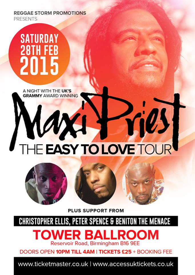 Maxi Priest Tour  Birmingham